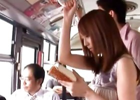 Kaede Matsushima Asian chick gets fucked on the bus