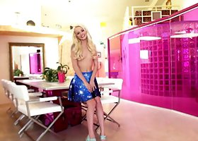 Skinny Elsa Jean having a creampie session with a very horny dude