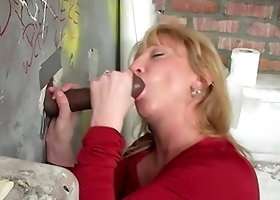 Big Black Cock Addicted MILF Visits a Filthy Gloryhole