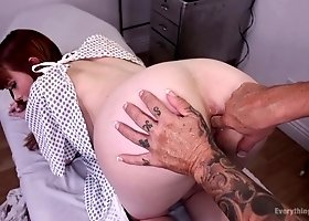 Slutty lesbian Alexa Nova enjoys fisting anus of one old whore