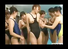 These naughty and cute japanese babes are having orgy