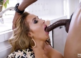 MILF Richelle Ryan having her pretty face dicked by coal Isiah Maxwell