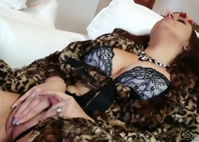 Lonely milf wife feels horny and masturbates in the house