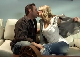 Horny pornstar Jessica Drake in best blowjob, big tits xxx movie