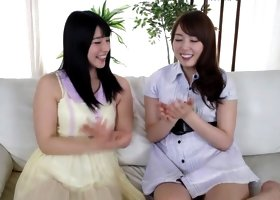 Incredible Japanese whore Ai Uehara, Yui Hatano in Amazing lesbian JAV movie