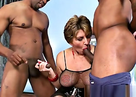Black Dudes Smashed A Mature Whore