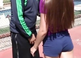 Football trainer seduces and fucks a truly lusty Latina