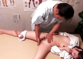 Adorable lady gets deeply fucked by her masseur indoors