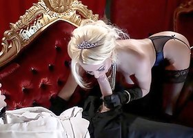 Gorgeous blonde milf Tia Layne lets Danny D fuck her cunt from behind