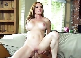 Gorgeous MILF hottie is insatiably riding big cock