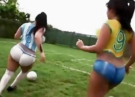 Big ass latinas playing soccer before sex