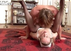 Mature nurse nailed in missionary position