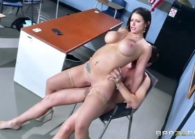Brooklyn Chase & Jessy Jones in Nailing Ms. Chase: Part One - Brazzers