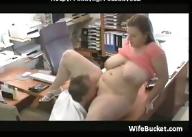 Chubby Wife Office Fuck