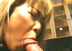 Nasty and cute japanese  is giving blowjob to her bf