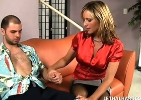 Horny blonde Jodi West plays doctor and starts stripping for her patient