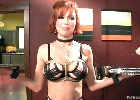 Sexy Brown Milf Is Trained To Be A Waitress