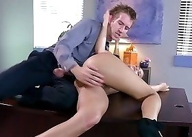 Teacher fucks on the table delinquent student with hot pussy