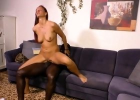 HAUSFRAU FICKEN - Hot interracial sex with German housewife