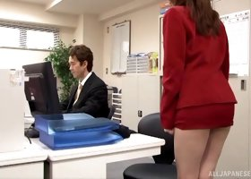 Hardcore penetration in the office for the breathtaking Yui Hatano
