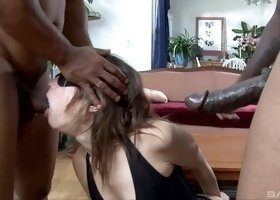 Two black dicks are all Amber Rayne wants in her holes