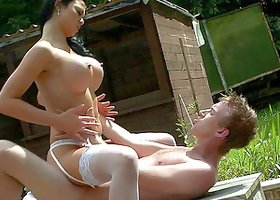 Hardcore Outdoor Banging With Horny Newly Wed Couple
