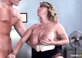 Racy dusky mom Holly Halston enjoy ass drilling