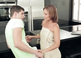 Nataly Gold is rubbing her lover's dick