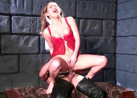Medieval kind of pussy penetration for the attractive Carter Cruise