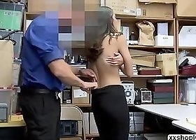 Shoplifter Emily caught stealing and gets fuck