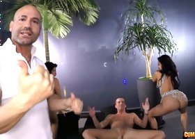 Hottest babes from Venezuela and Spain work their magic on this guy's dick