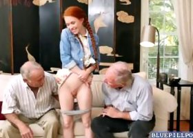 Frankie and Duke planned a surprise for her and had a shiny new dildo for her to try out Frankie was the one in charged of banging her with that huge