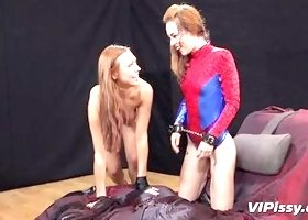 Domme Pees On Her Slave