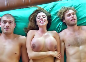 Hot wife banged by hubby and his best friend