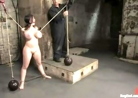 Unearthly Daphne Rosen performing in BDSM video