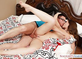 Well stacked minx Molly Jane gets banged in bedroom by Dane Cross