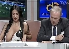 Gigant boobs on tv