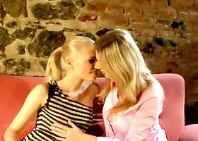 Blonde Lesbians Eat each other's Pussies.