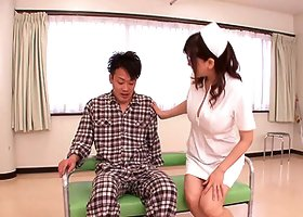 Big boobs nurse Anri Okita sexually services a patient