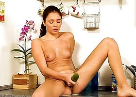 Amazing Kitchen Solo Scene With A Naughty Teen